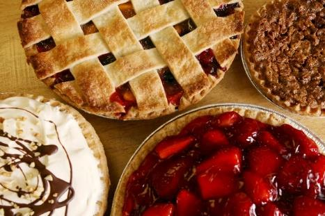 Just Pies serves lemon raspberry, apple crumb, cherry, triple berry, french silk and coconut creme pies in New Albany, Ohio